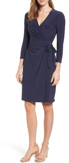 Anne Klein Jersey Faux Wrap Dress -