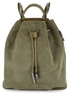 Halston Heritage Leather & Suede Drawstring Backpack -