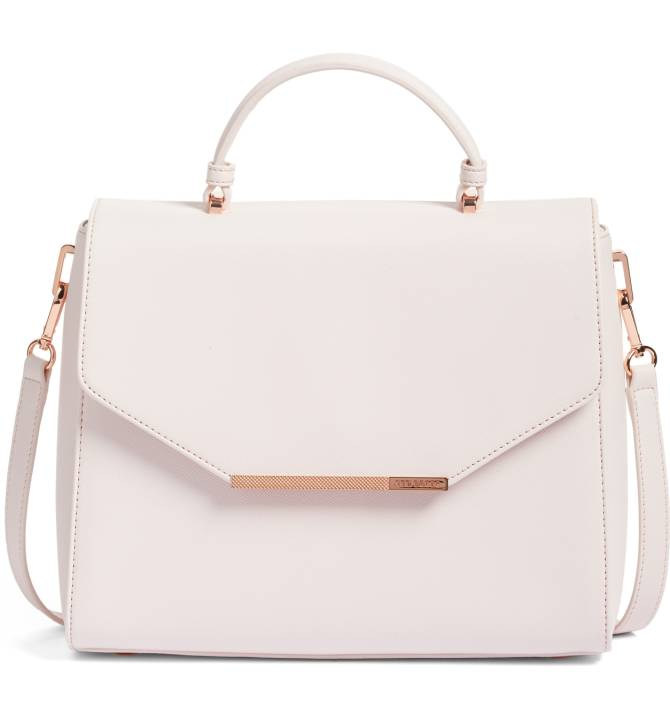 Ted Baker London Large Dajana Faux Leather Top Handle Satchel - I fell in love with this bag when I saw it in the sale! It's so ladylike but still structured like something the Queen of England would wear. It's also faux leather so it's good for any vegetarians or vegans. Sale: $149.90 After Sale: $229.00