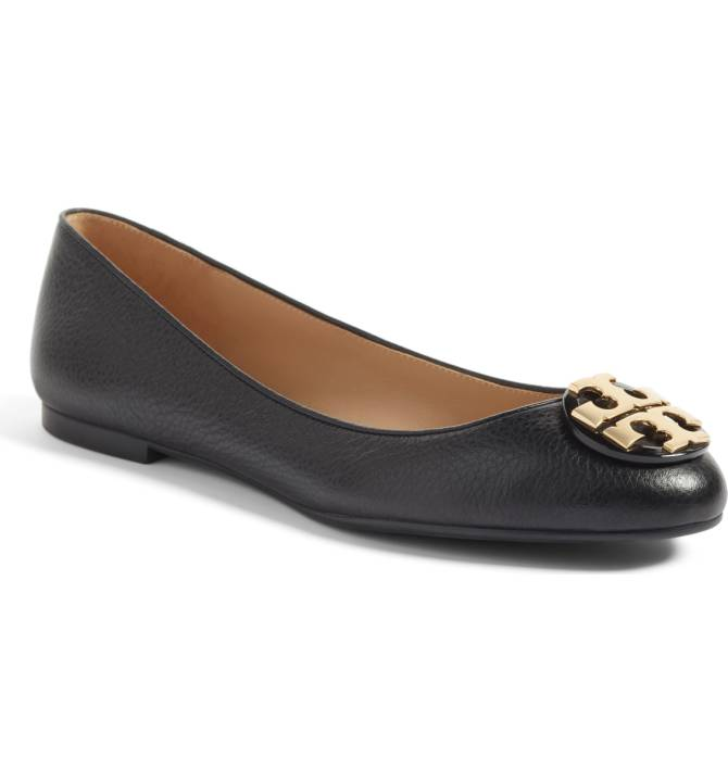 Tory Burch Claire Ballerina Flat - My Tory Burch flats are an essential piece in my wardrobe. You always need a pair of classic ballerina flats, whether it's for work or the weekend. Tory Burch ones also quite comfortable! Snap these up before the sale ends! Sale: $164.90 After Sale: $268.00