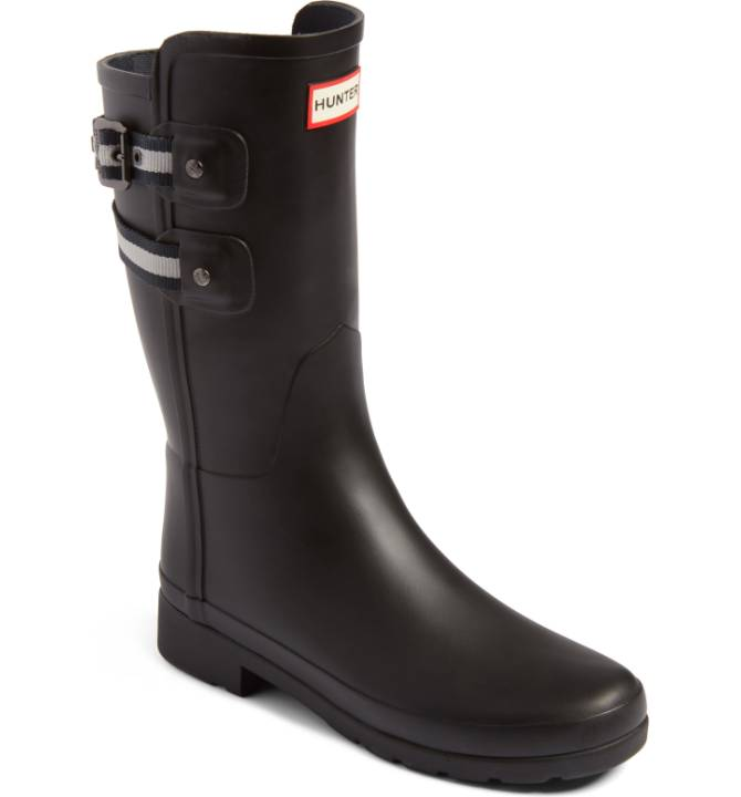 Hunter Original Refined Short Rain Boot - My Hunter boots are a lifesaver when it's raining or snowing. If you're lacking in good footwear for inclement weather, these are a good place to start! Sale: $119.90 After Sale: $185.00