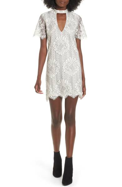 Socialite Choker Lace Shift Dress - I saw this dress in the sale and fell in love with the lace detailing. I actually haven't really tried out the choker dress/top trend but this dress makes me really want to give it a shot. Sale: $38.90 After Sale: $59.00