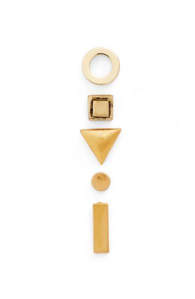 Madewell 5-Pack Geometric Stud Earrings -
