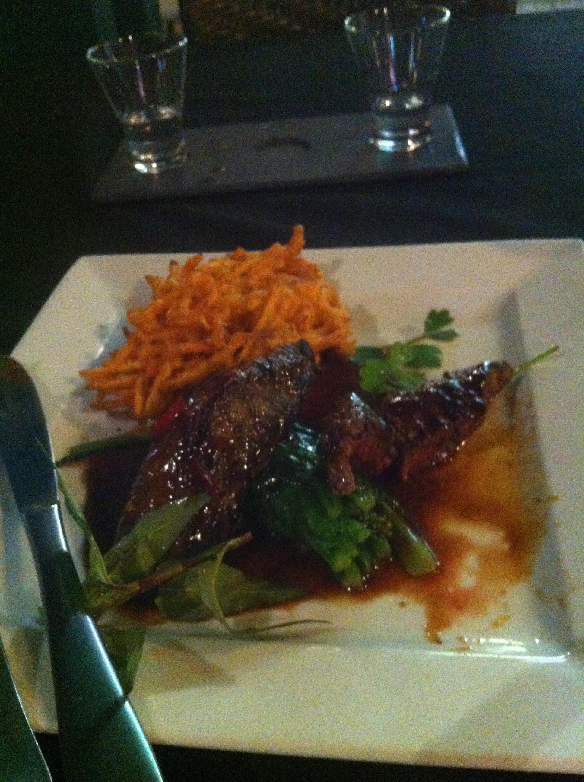 Kangaroo steak -- bring a buzzsaw