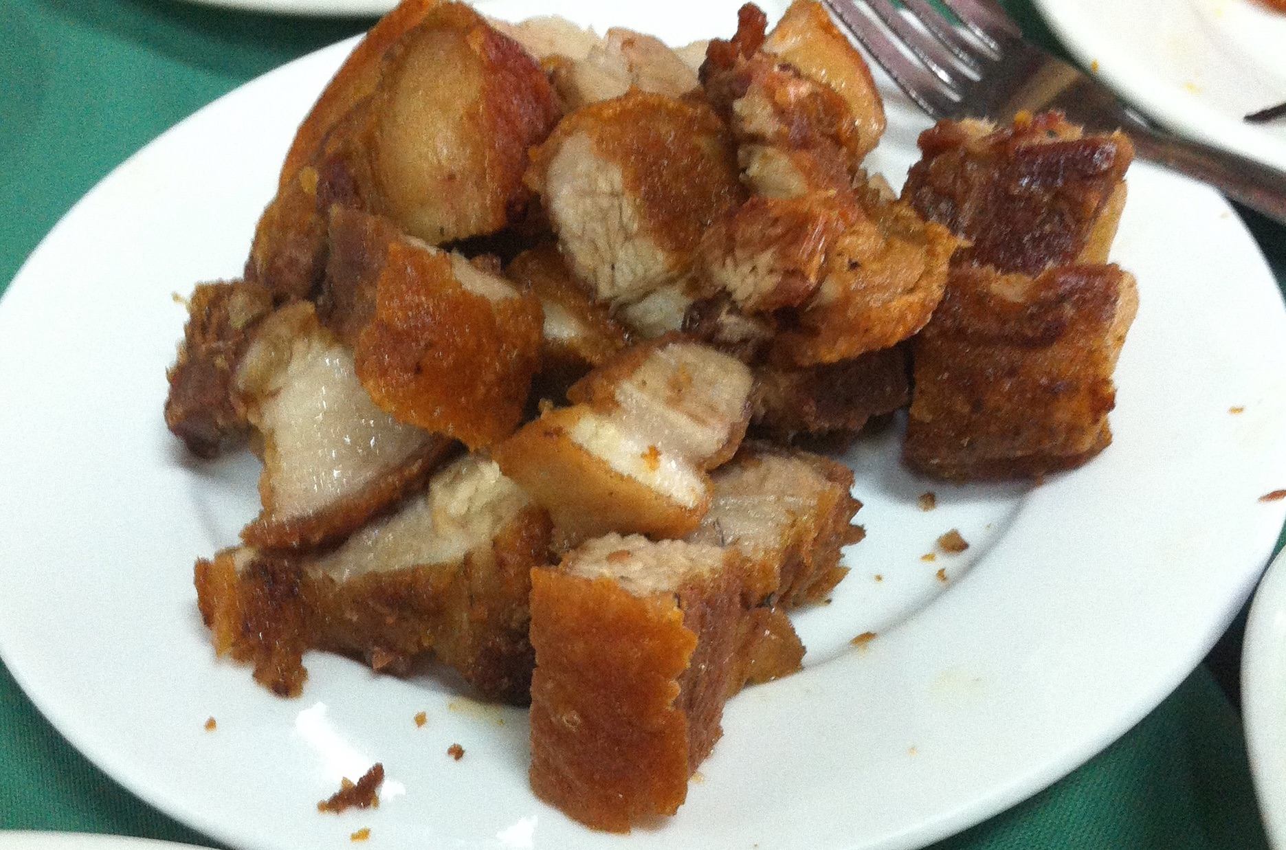 Lechon kawali! One of the many variations of fried pork meat/skin.