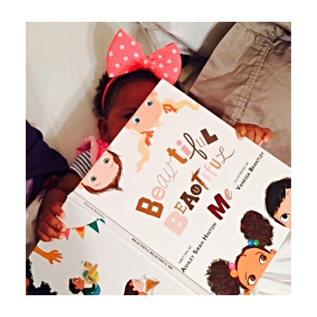 You are never too young to know you are beautiful. @charmedbyalison baby girl received her copy and is enjoying the pictures! #diversity #childrensbooks #beautifulbeautifulme