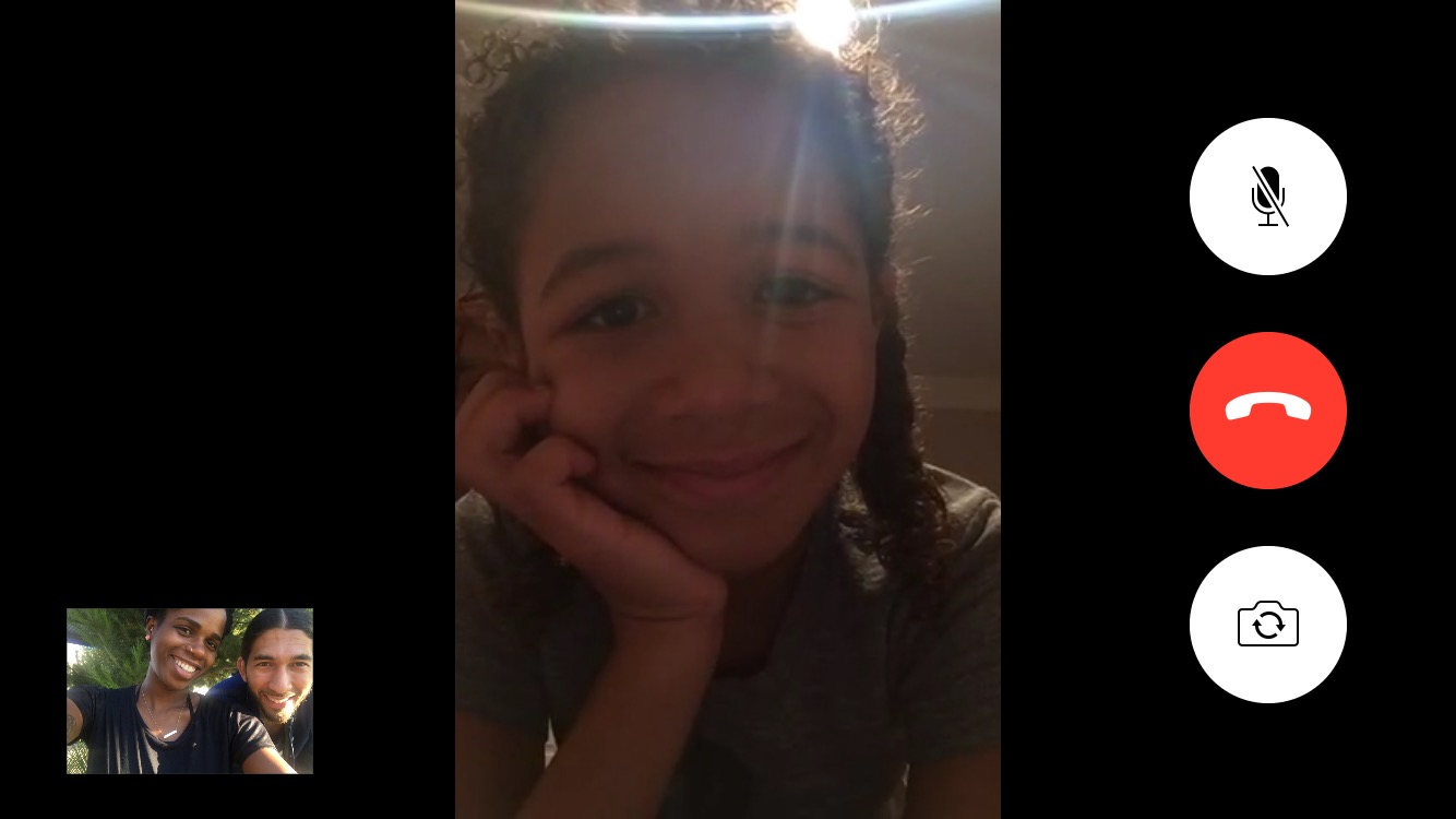 Sidenote: Thank God for technology and the ability to facetime your child whenever you want.
