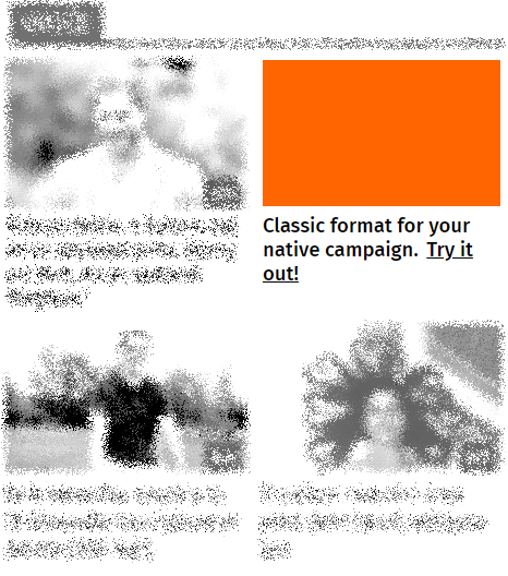 Classic native - For classic native advertising all we need are image and title. This format is therefore quick, easy and connectable. It is especially suitable for content marketing and sales promotion.