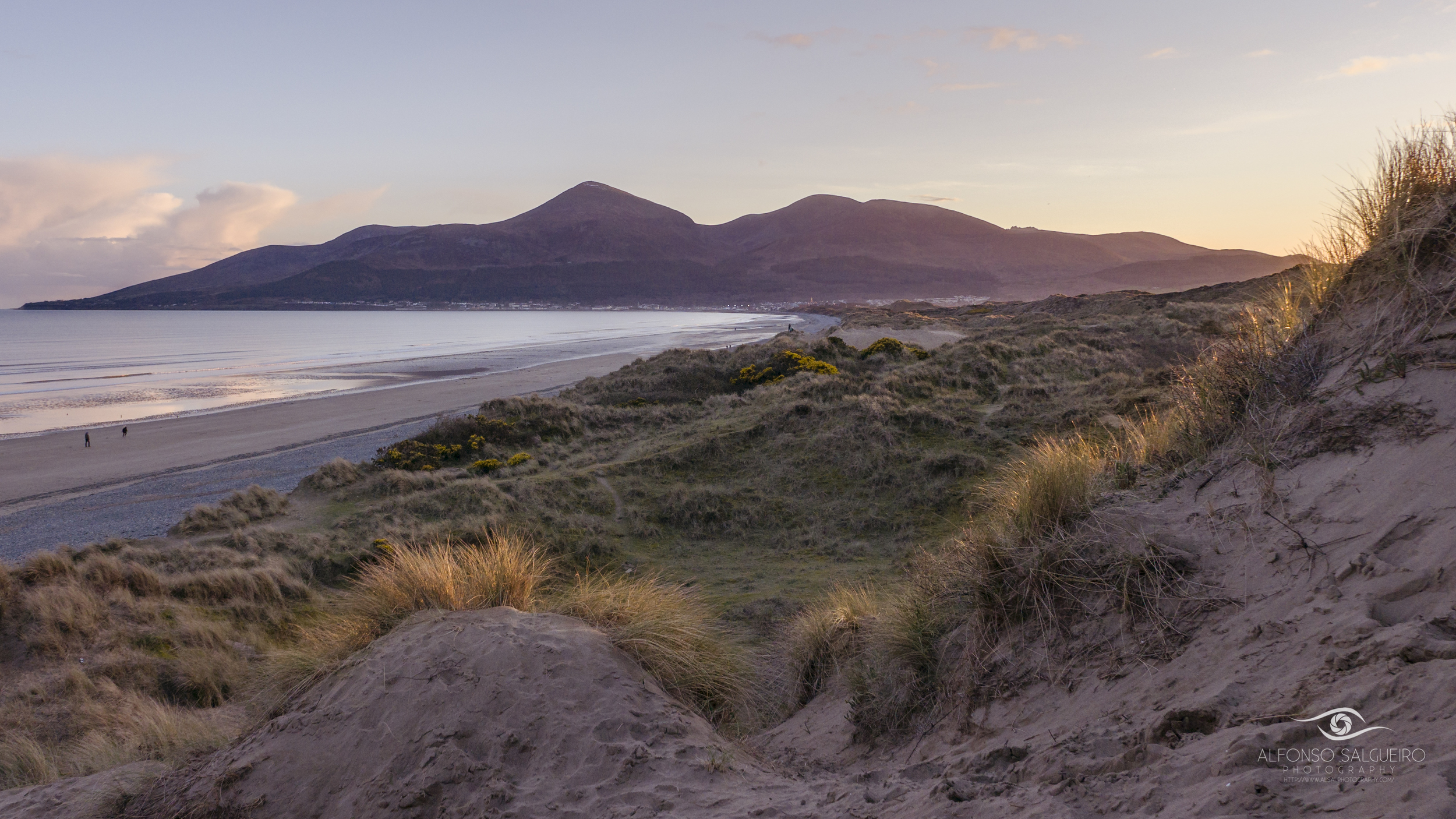Sunset at Murlough beach