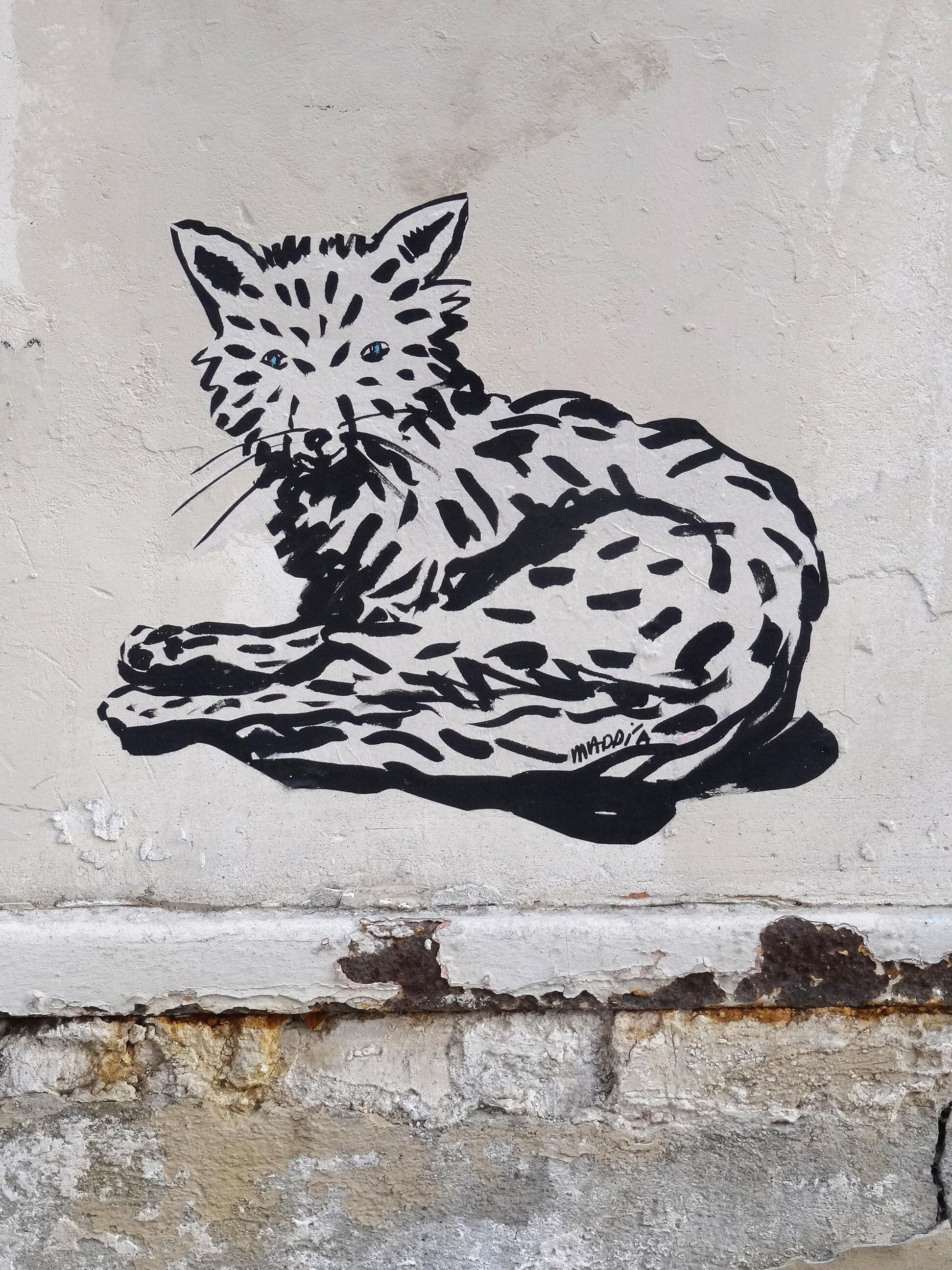 Rue Felicien David, 75016 Le renard sort du bois de Boulogne , la nuit la rue est son domaine. papier vegetal, encre de chine, colle ph neutre  copyright adagp