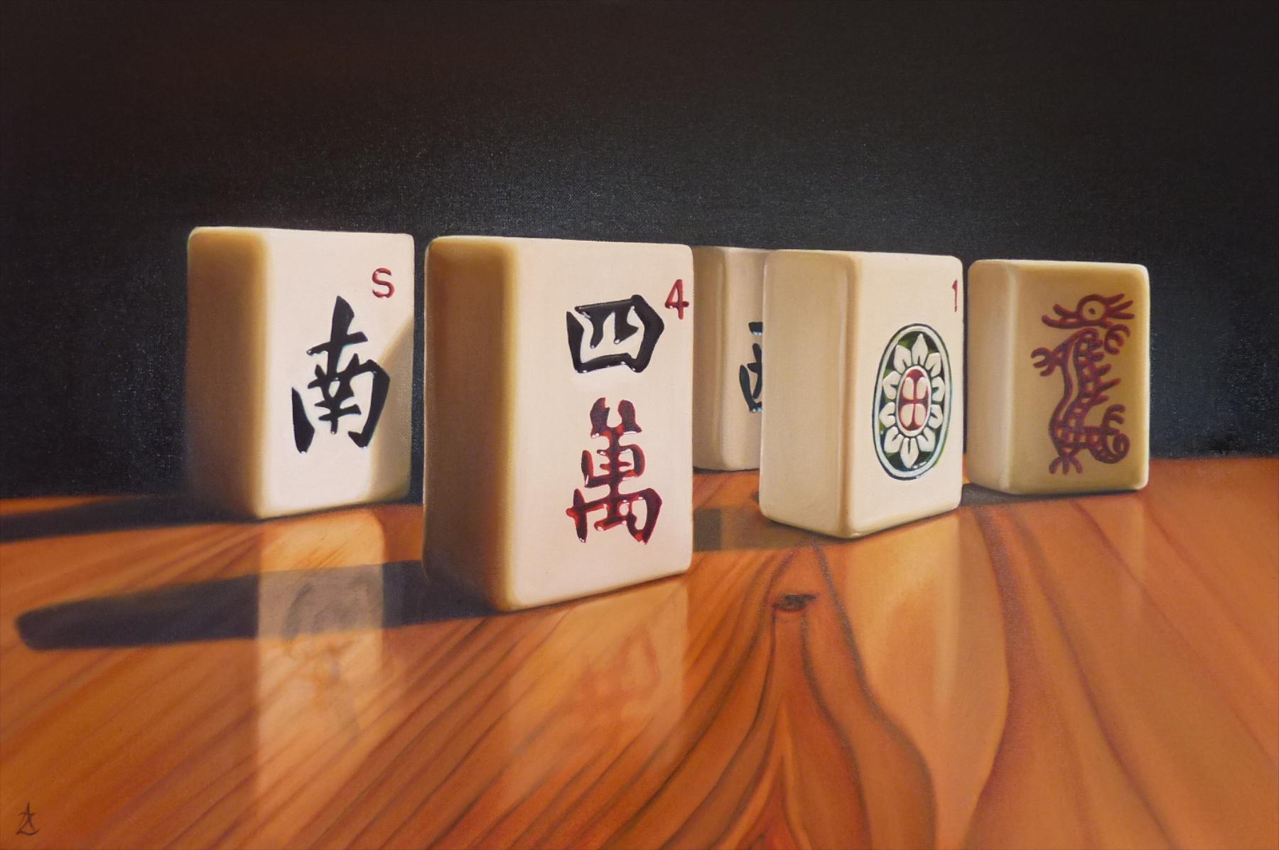 Mahjong Tiles 2 Oil 50 x 76cm.jpg