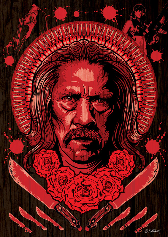 The Mexican by Mark Levy (print inspired by Machete Kills)