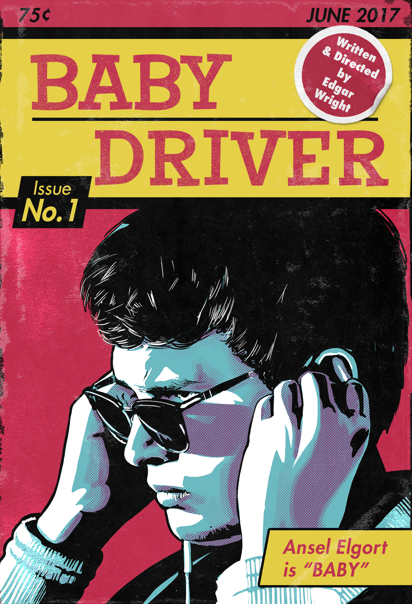 Baby Driver Poster No. 1 - Ansel Elgort