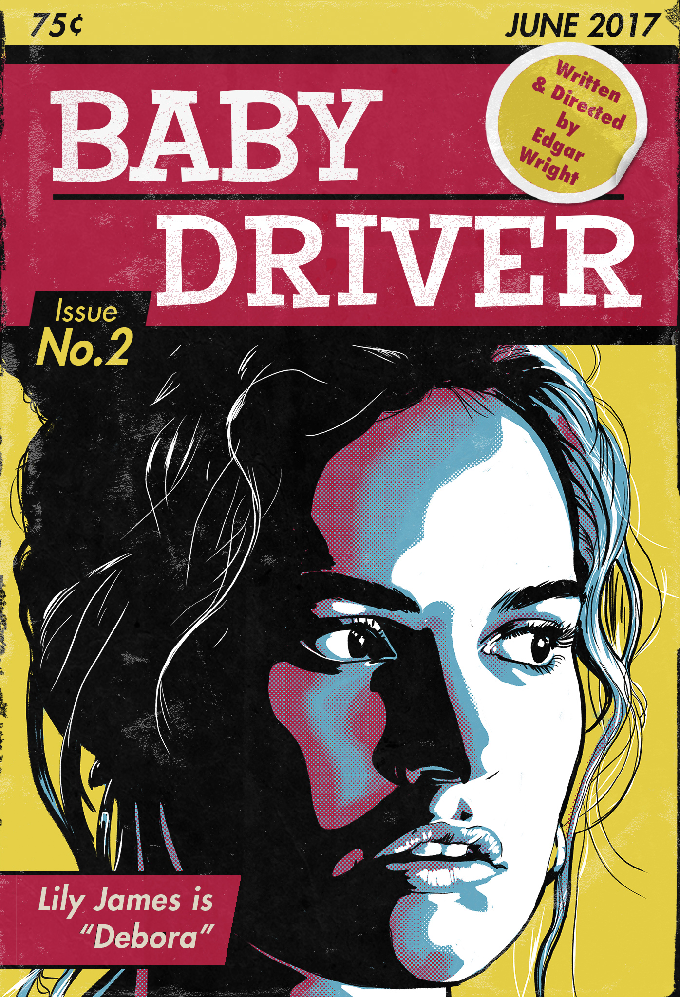 Baby Driver Poster No. 2 - Lily James
