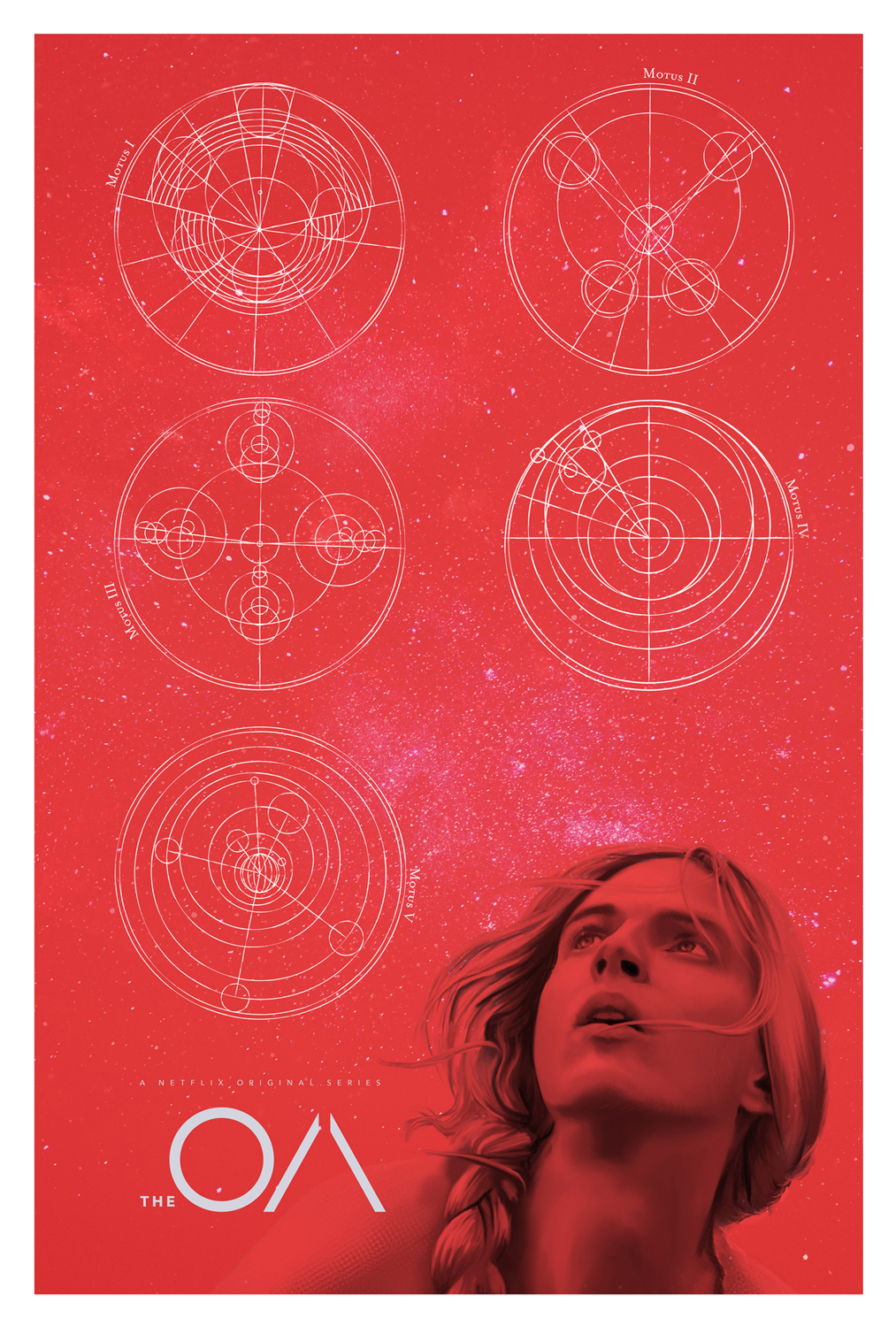 The OA Red Variant NETFLIX MOVIE poster design by Mark Levy Art