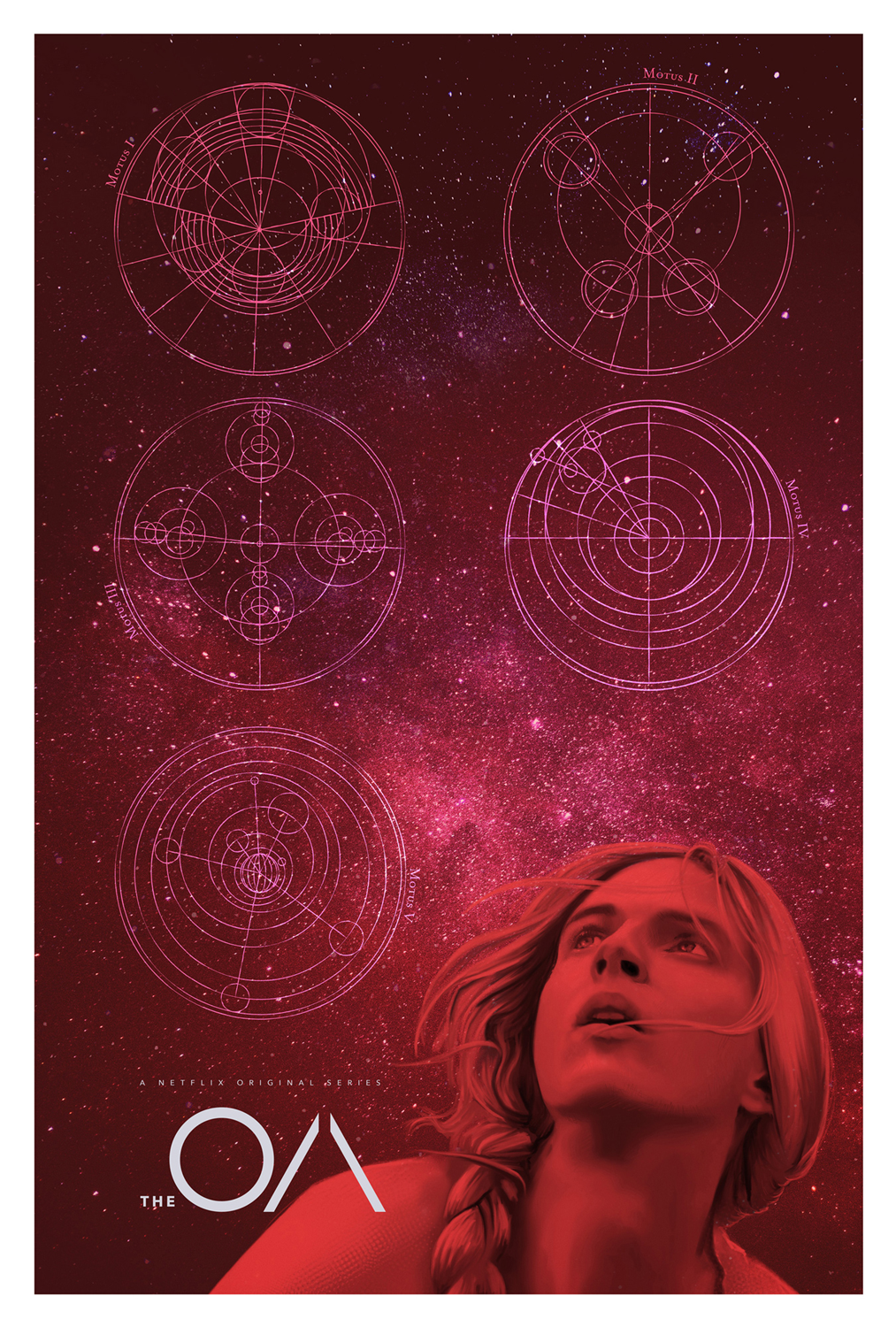 The OA Space Variant NETFLIX MOVIE poster design by Mark Levy Art