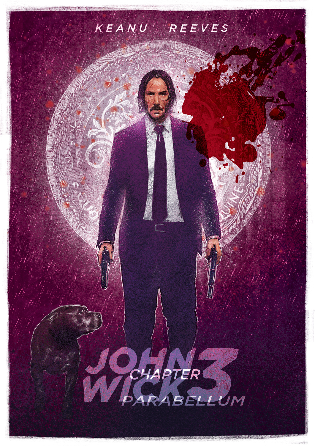 John Wick 3 alternative poster by @markLevyArt