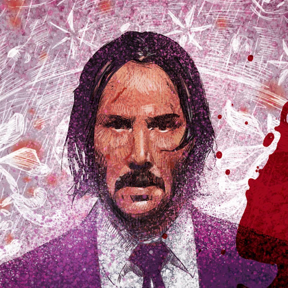 John Wick 3 alternative poster detail by @markLevyArt