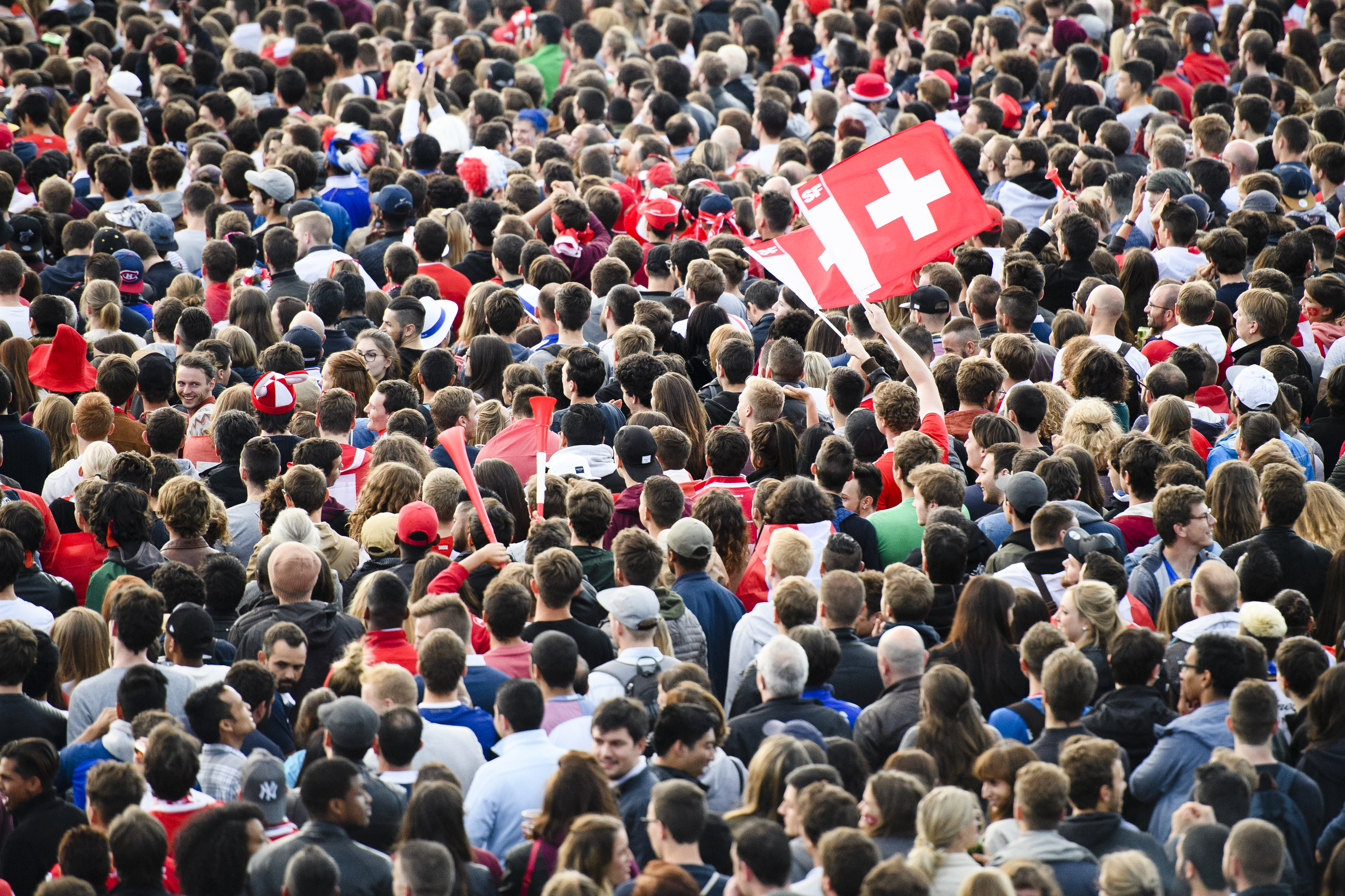 SWITZERLAND SOCCER PUBLIC VIEWING LAUSANNE