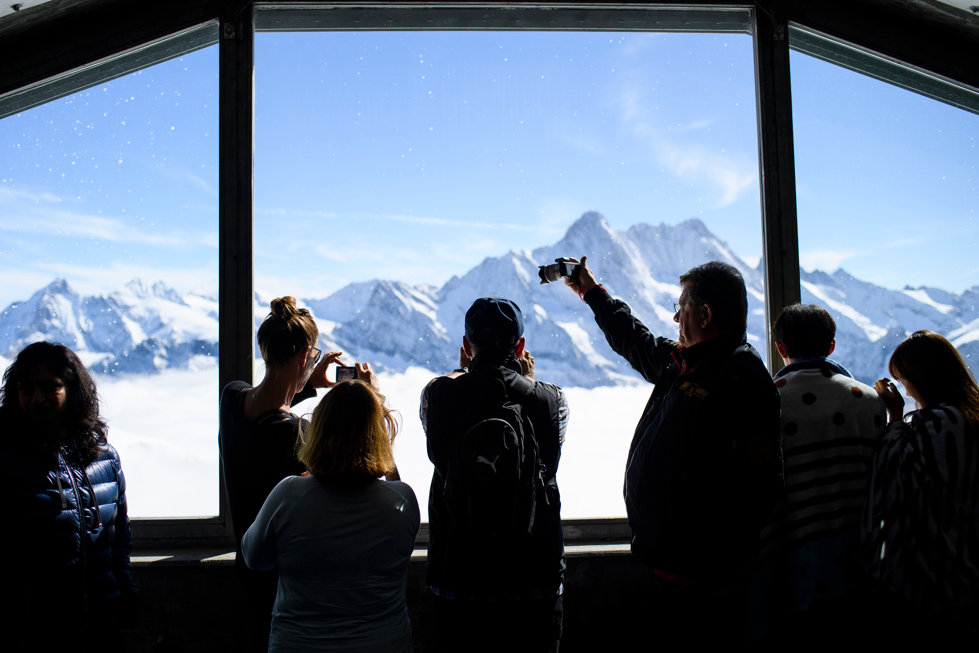 SWITZERLAND JUNGFRAUJOCH TOURISTS