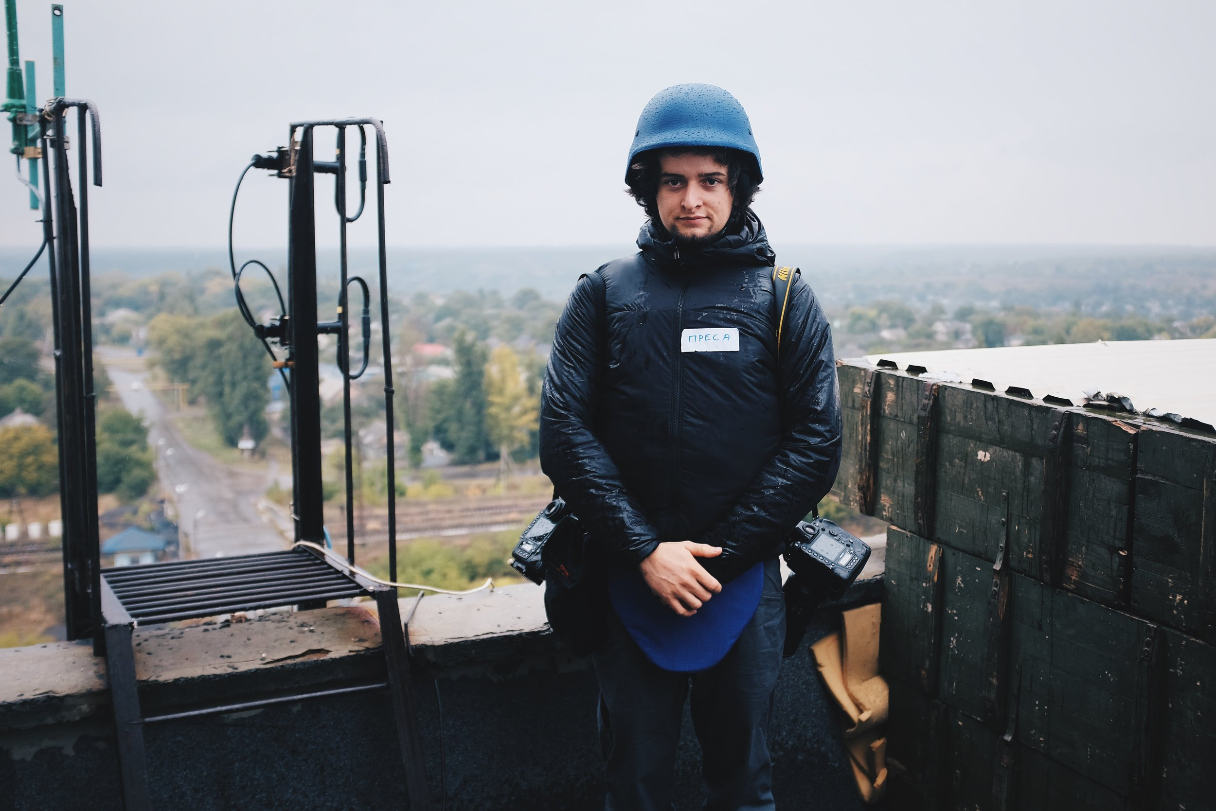 Manu in Avdiivka, 2016.