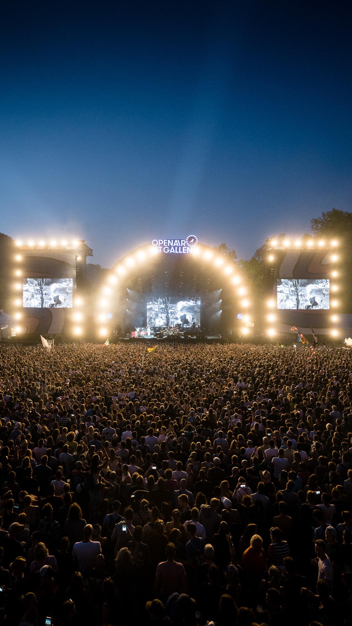 Depeche Mode auf Sitterbühne am OpenAir St.Gallen