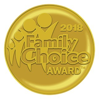 So nice to be recognized by the 2018 Family Choice award.