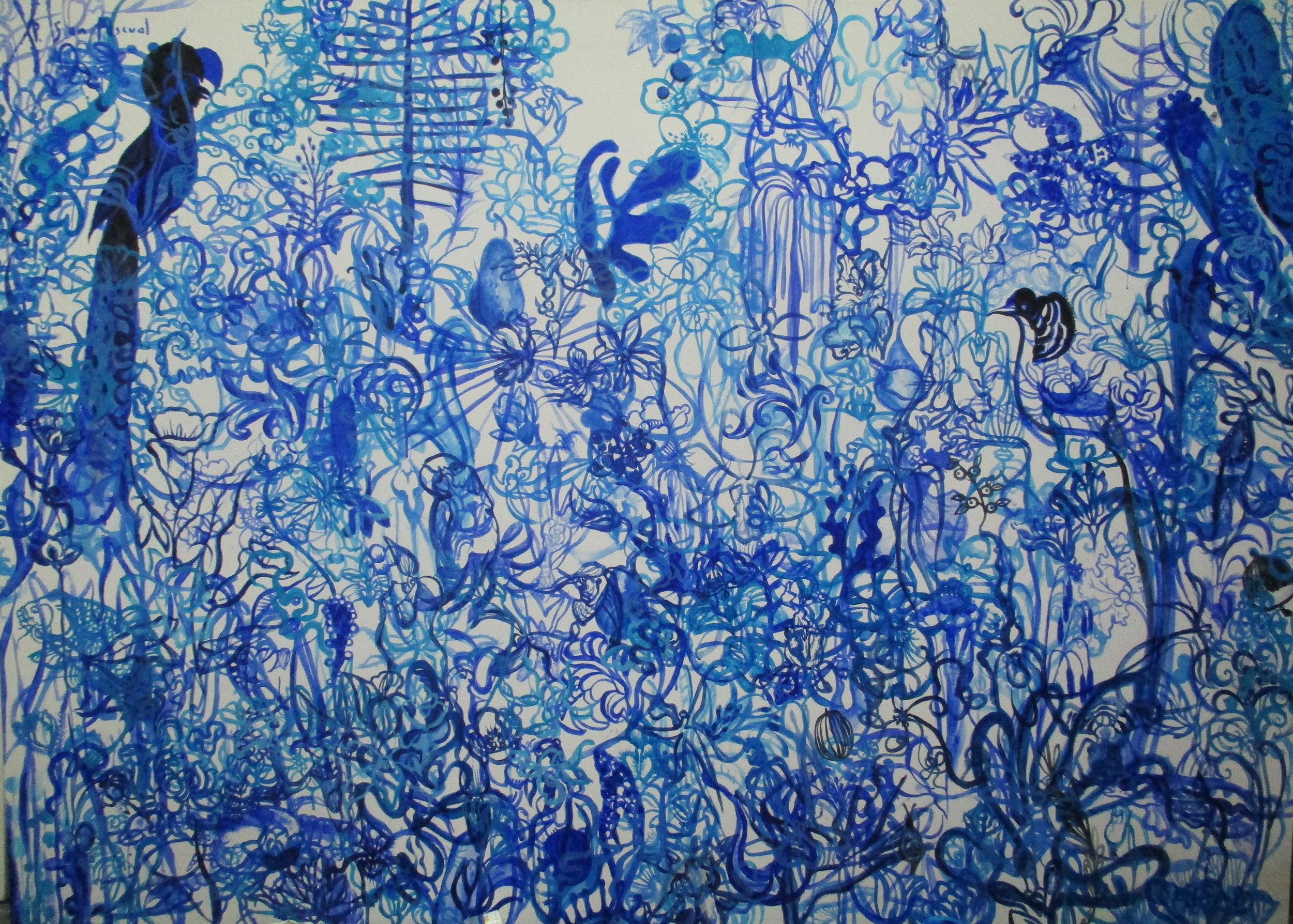 Botanica with Bird of Paradise_75x55in_2016_MelindaGarcia.JPG