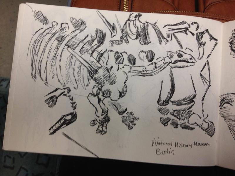 Dinosaur sketches.