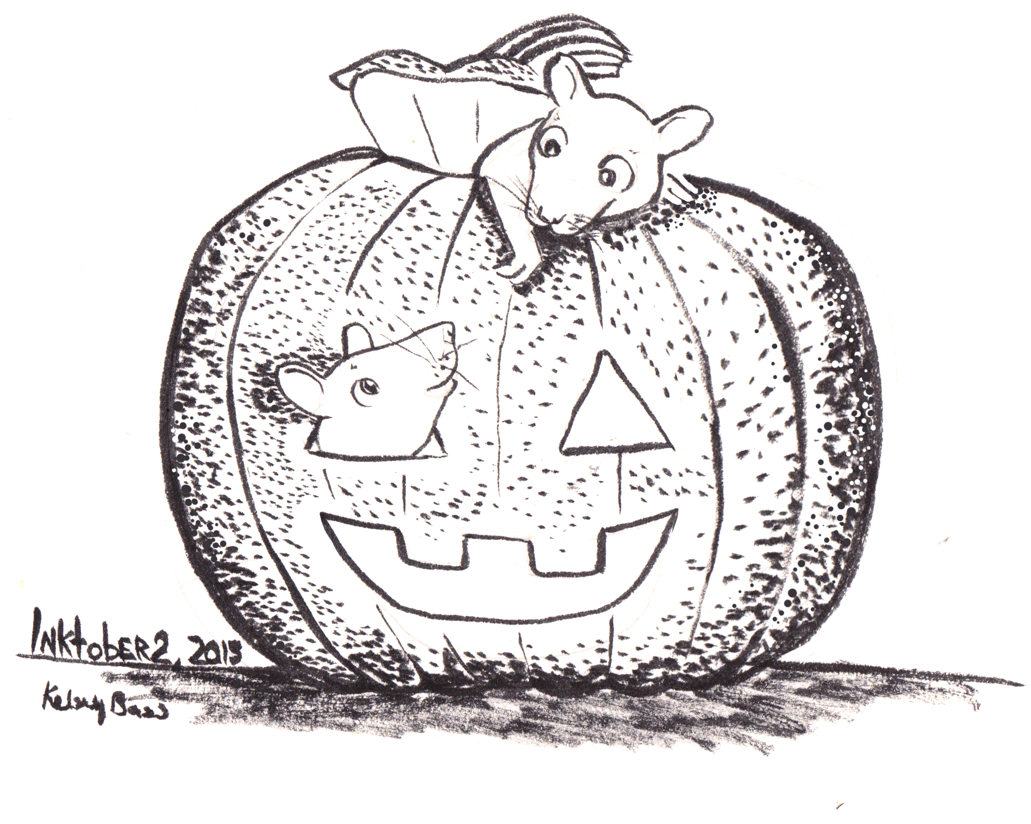 Inktober 2, 2015 I love Rats and Jack o' Lanterns. I use to have pets rats growing up, and they were amazing friendly pets. And I can't think about October without thinking about Pumpkins and Jack o' Lanterns.