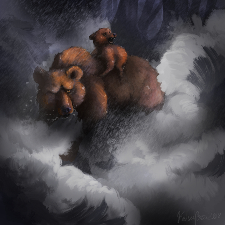 Bears in a Storm