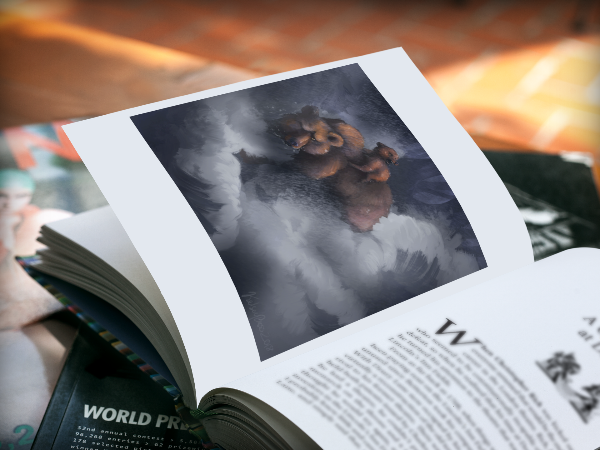 mockup-featuring-a-book-lying-open-over-a-stack-of-magazines-a5909.png