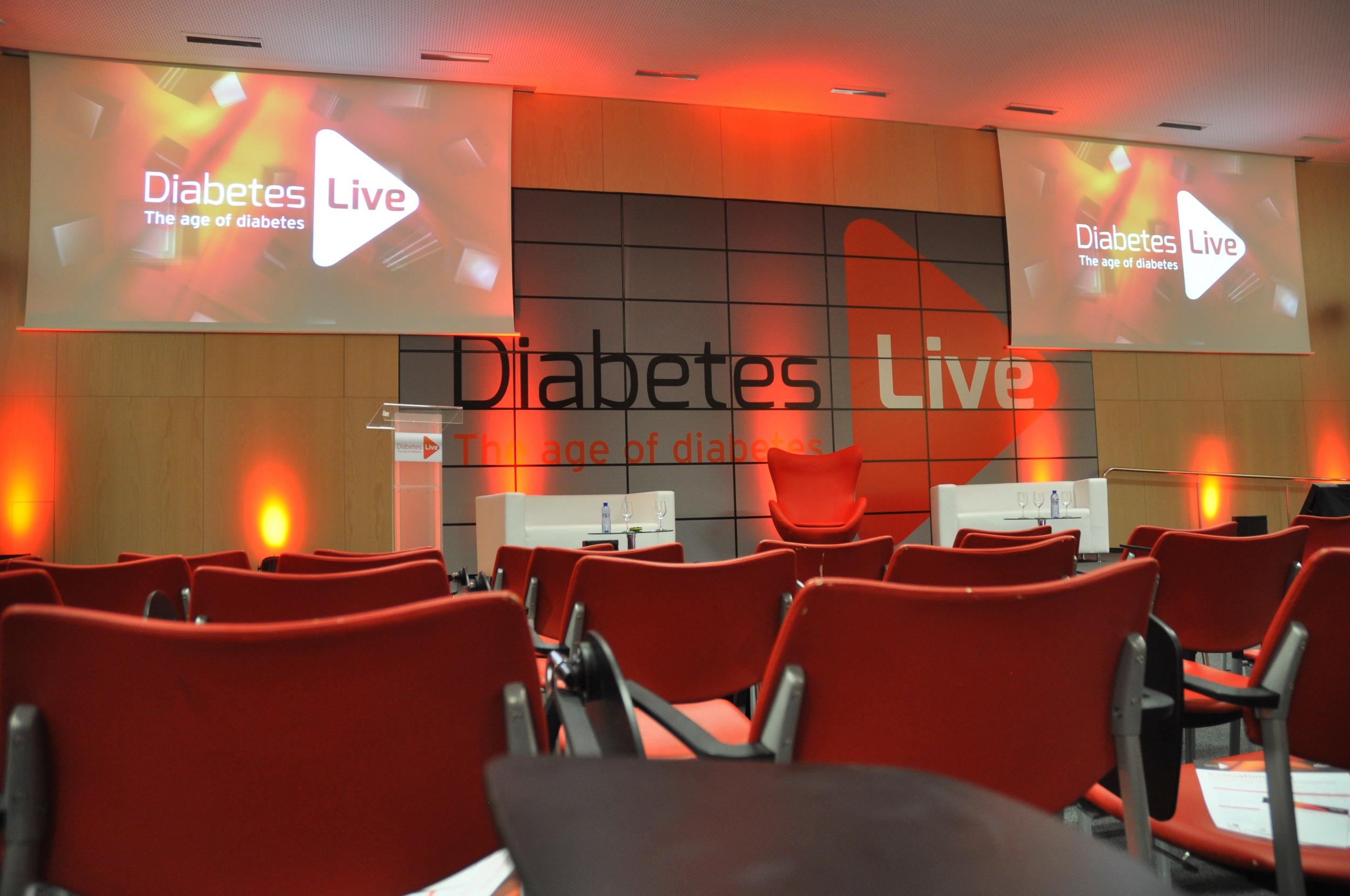 Diabetes Live Clear Clingz Tiled