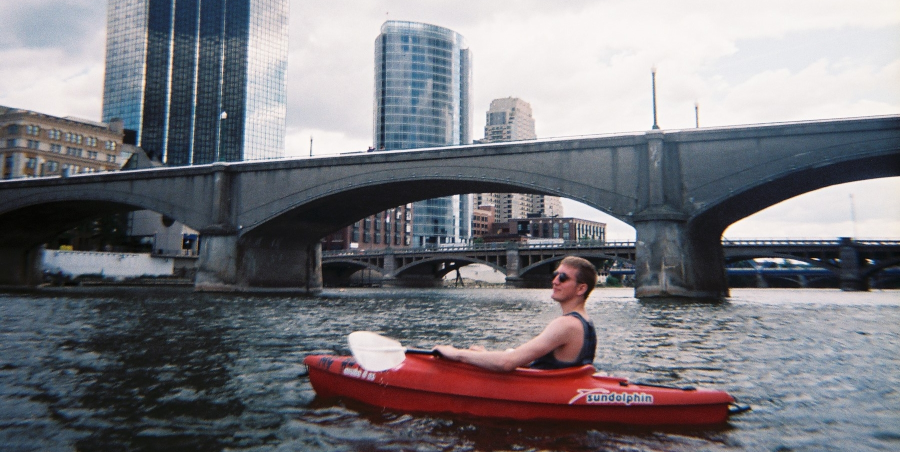 """Kayaking the Grand"" 30 Days of Grand Rapids Aug 24, 2015"