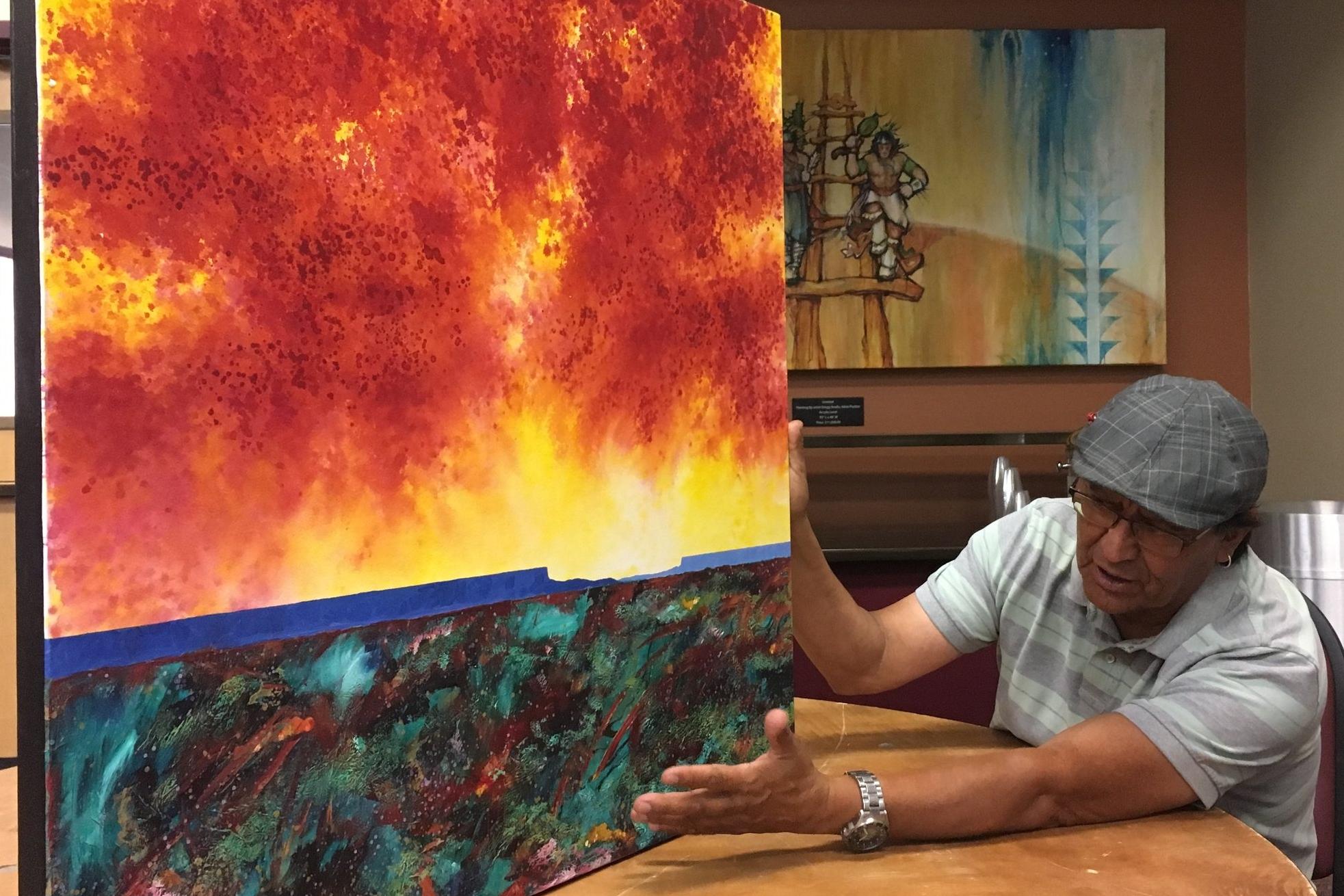 """Felix Vigil, Meditations on the Journey"" Indian Pueblo Cultural Center Jun 26, 2017"