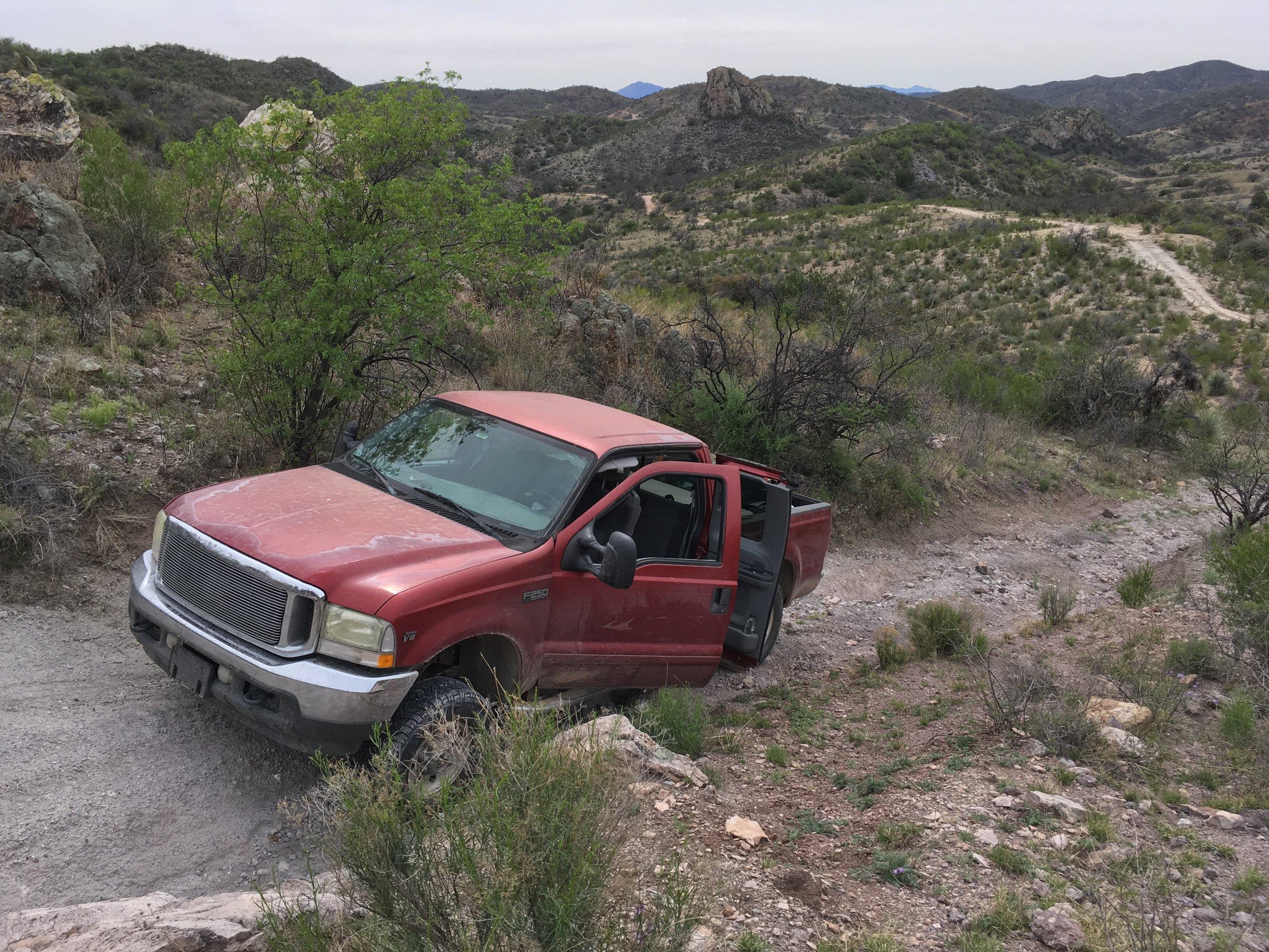 Braving rough remote roads