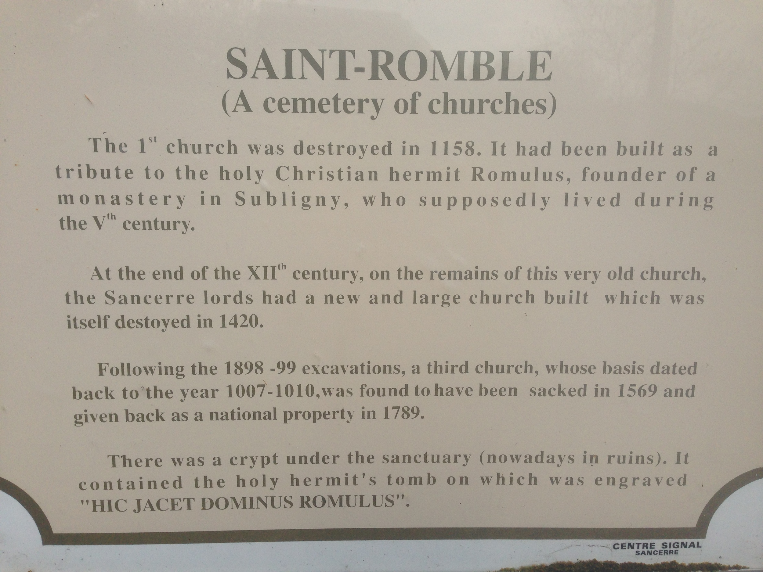 """There's something about """"A Cemetary of Churches"""" that I find quite poetic."""