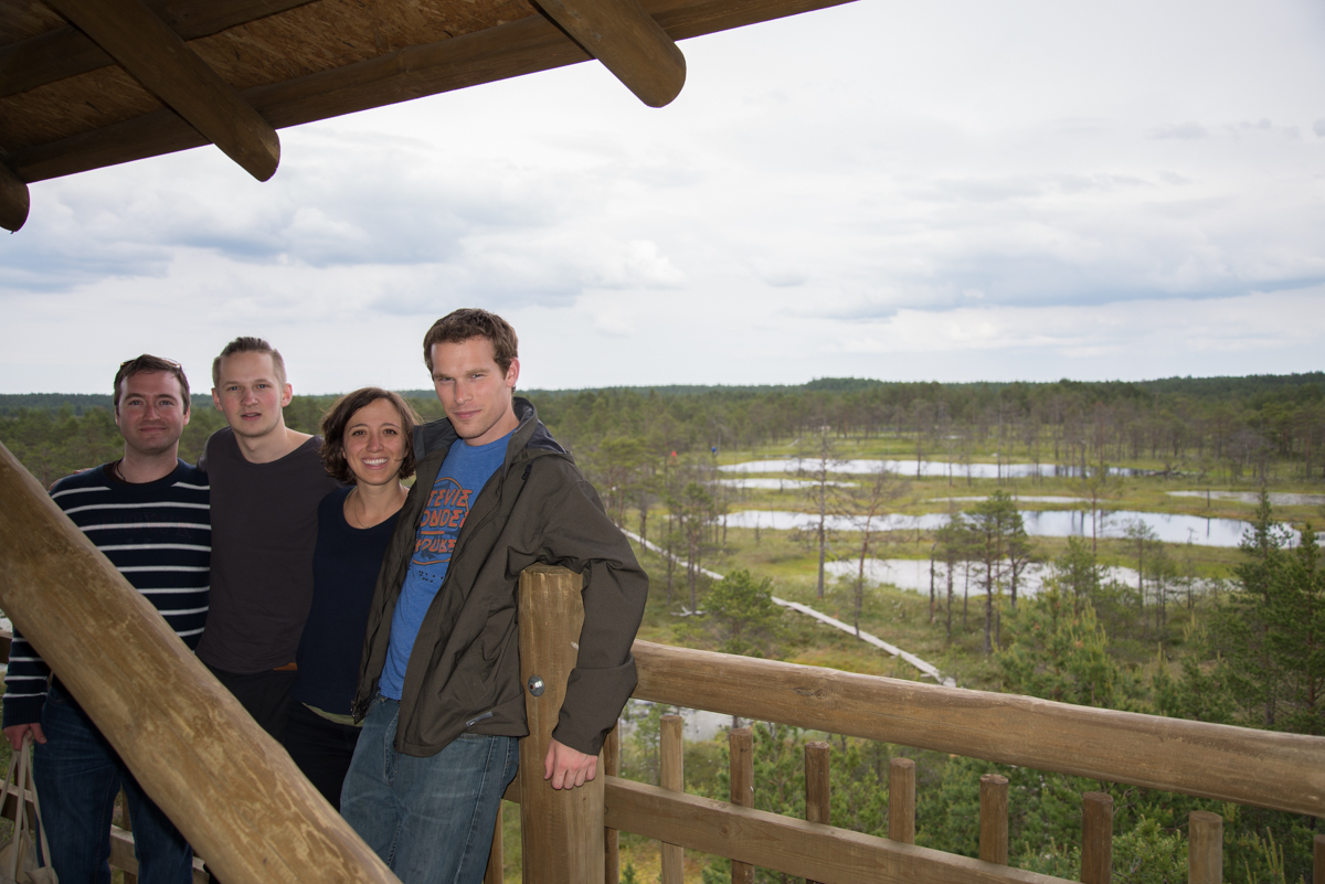 Harper, Carl, me,Neil, and the bog