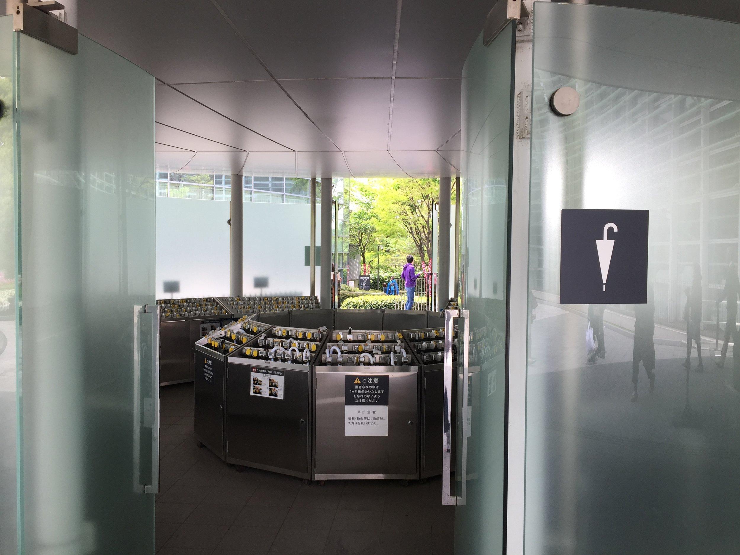 umbrella parking at the museum