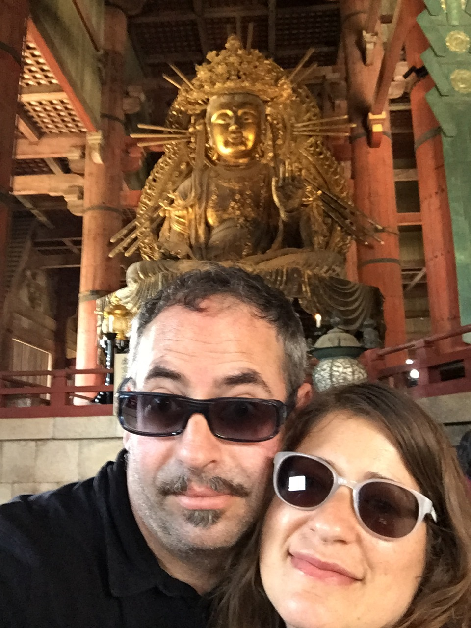 hey, there's a buddha on your head