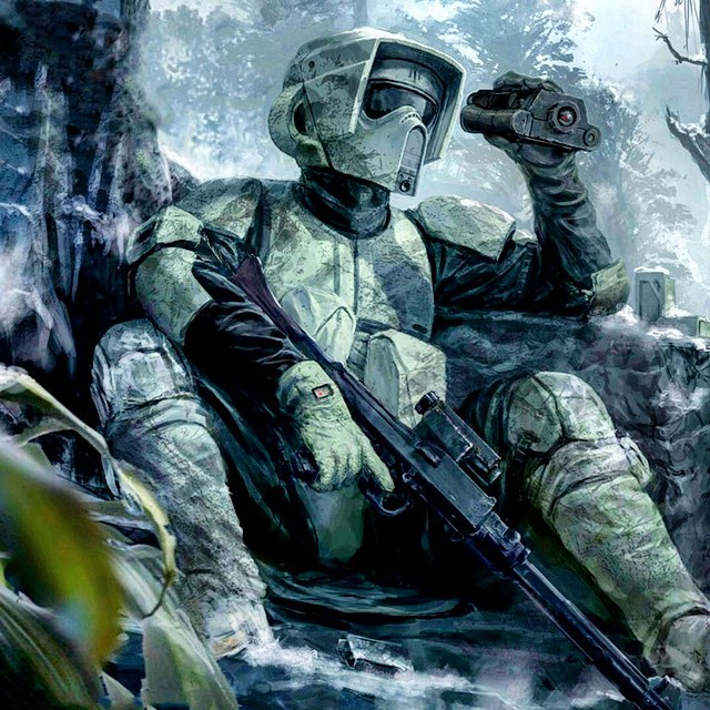 Scoping the forest. #starwars
