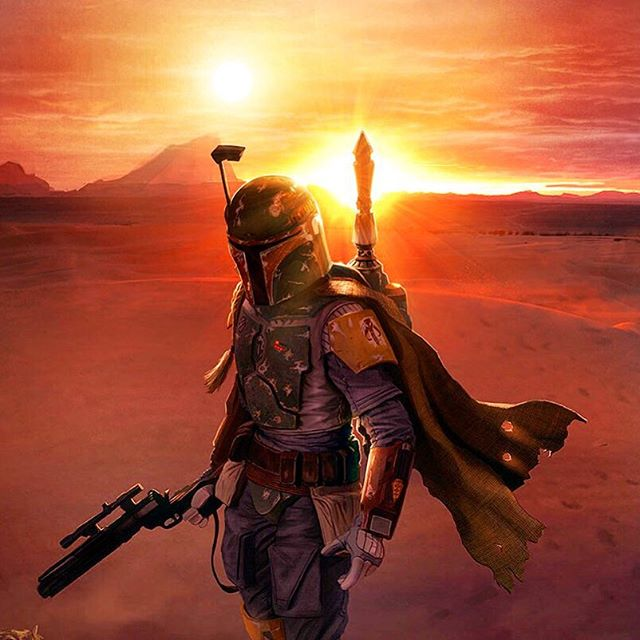 The almighty bounty hunter. #starwars