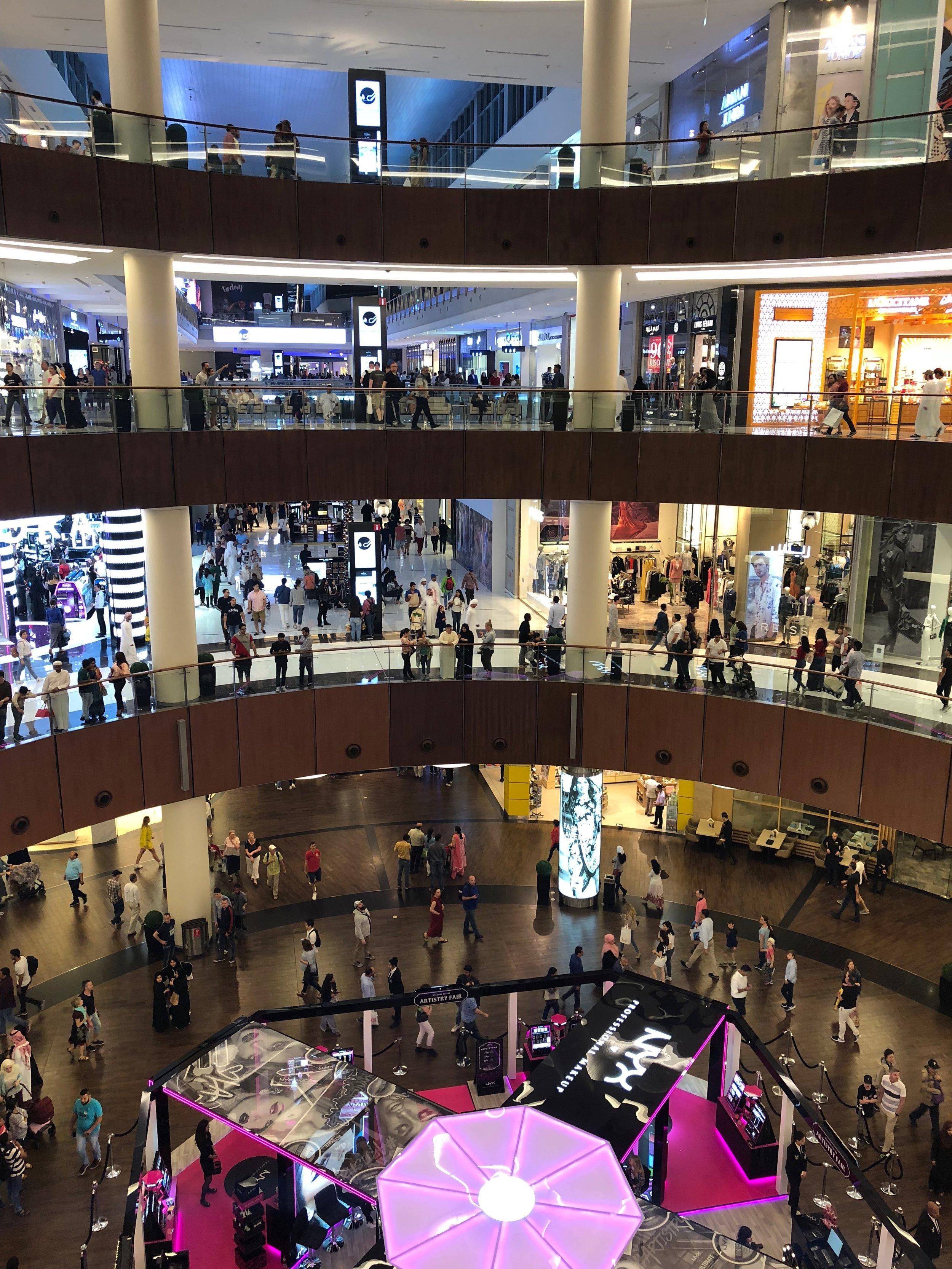 Dubai Mall.....50 football fields in size
