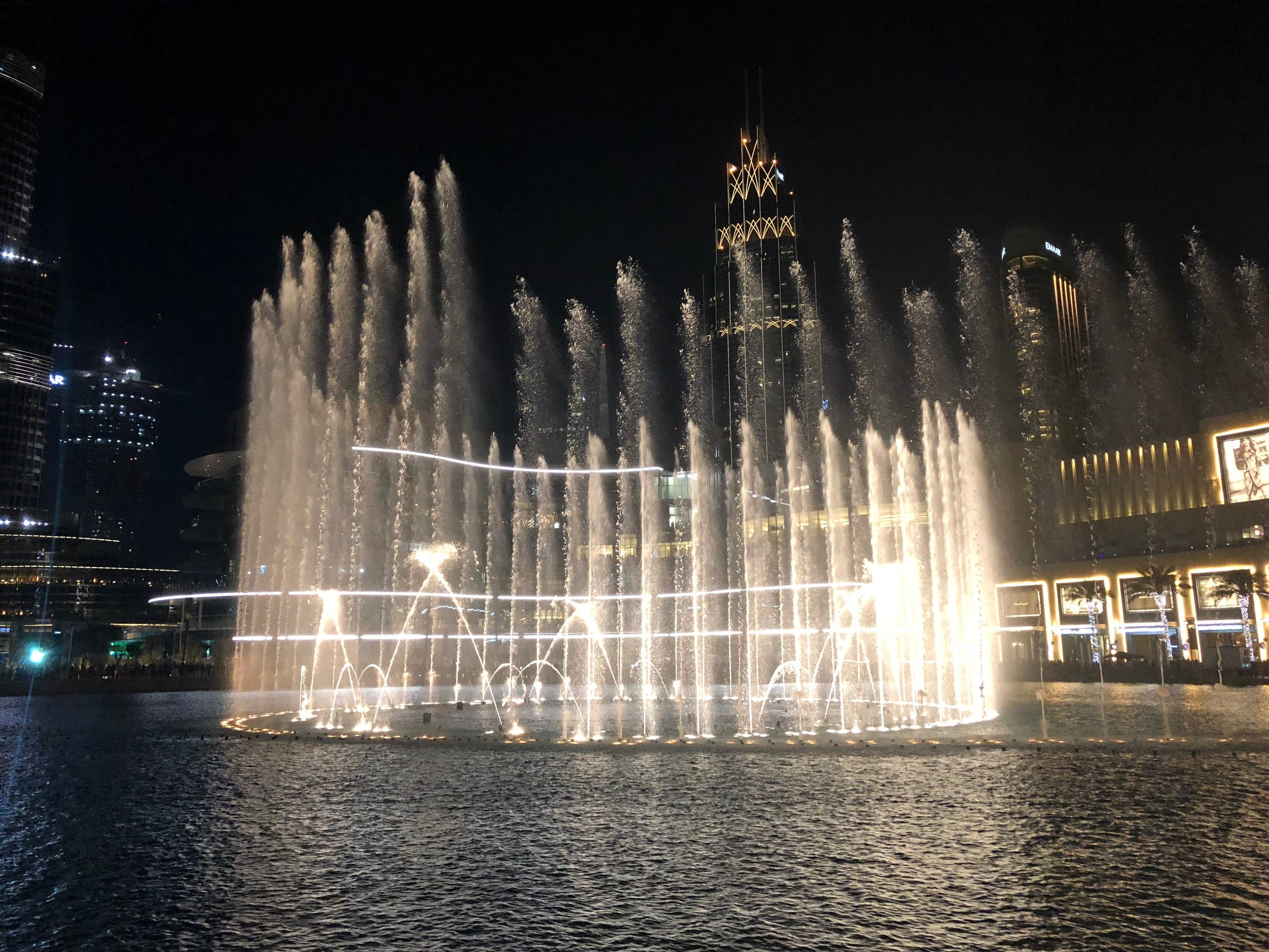 The water fountain show.....
