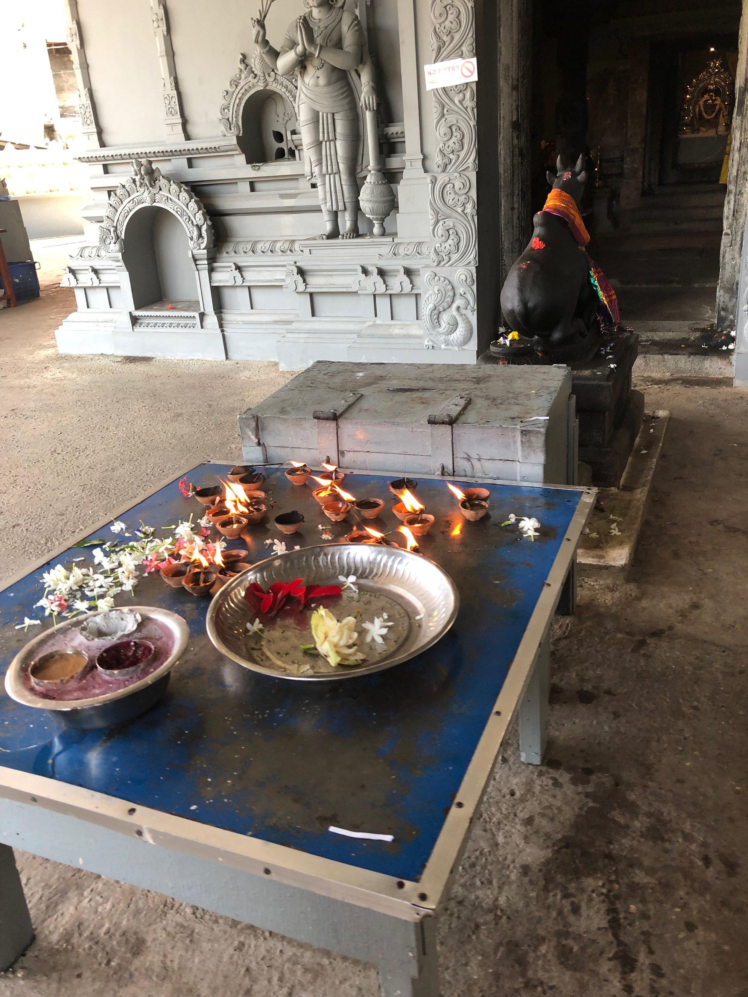 Hindu temple offerings....