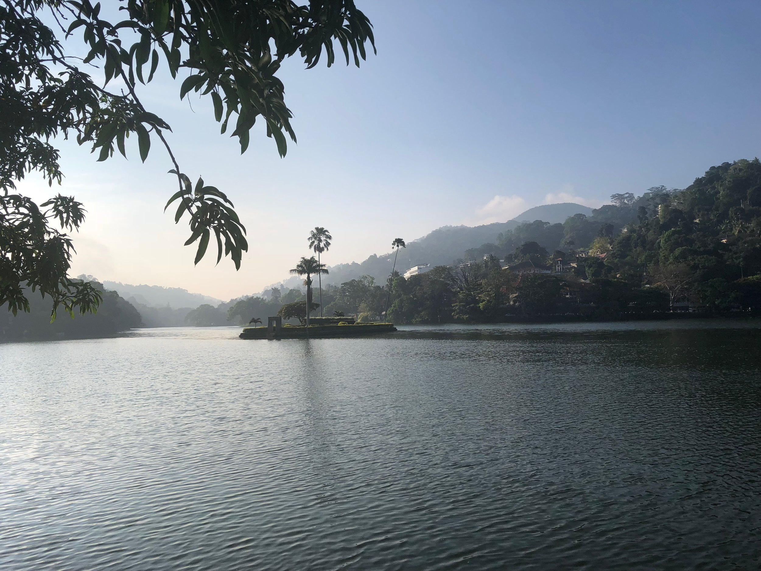 Morning view of The Lake of Kandy