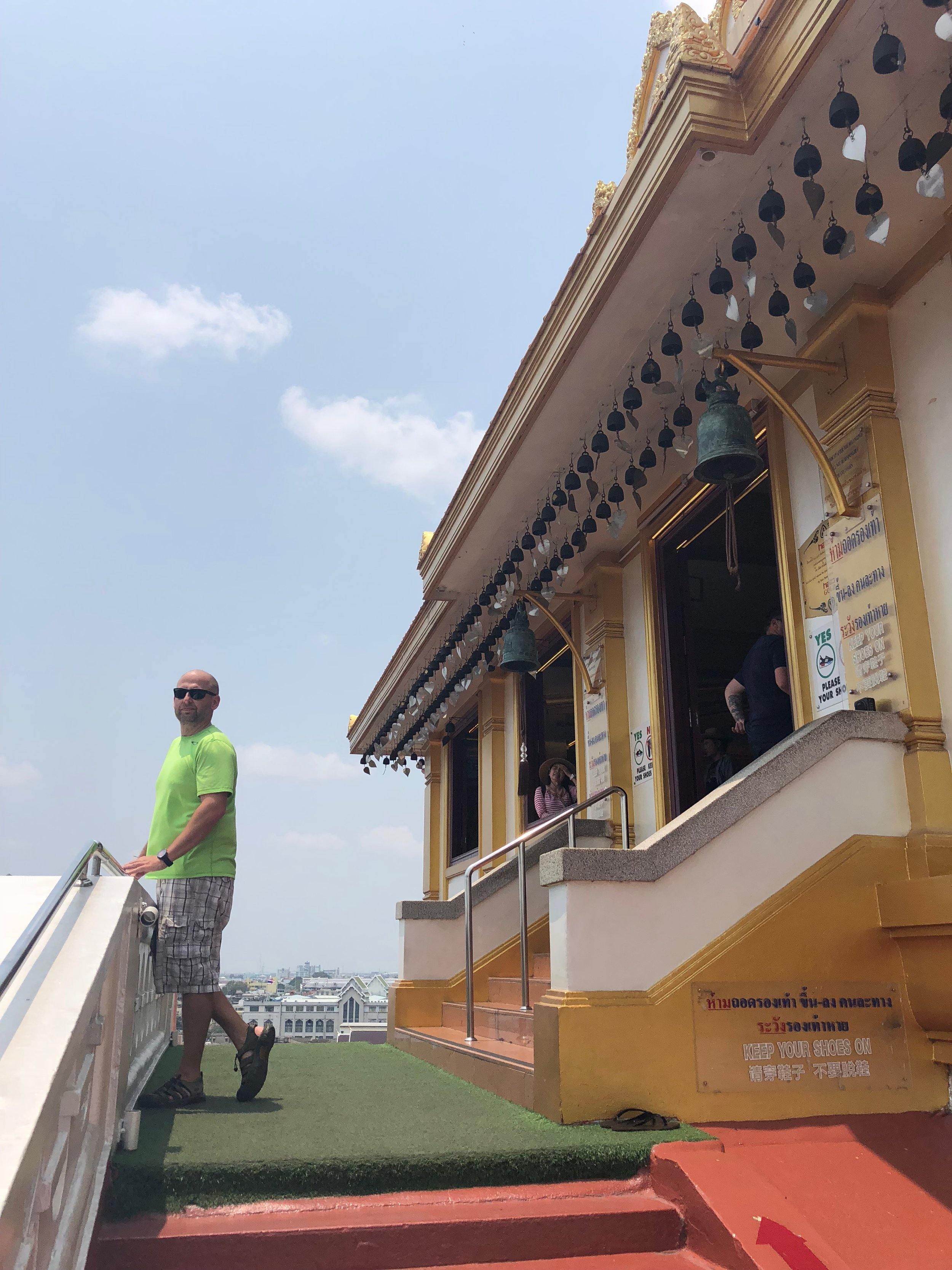 At the top of The Golden Mountain Temple
