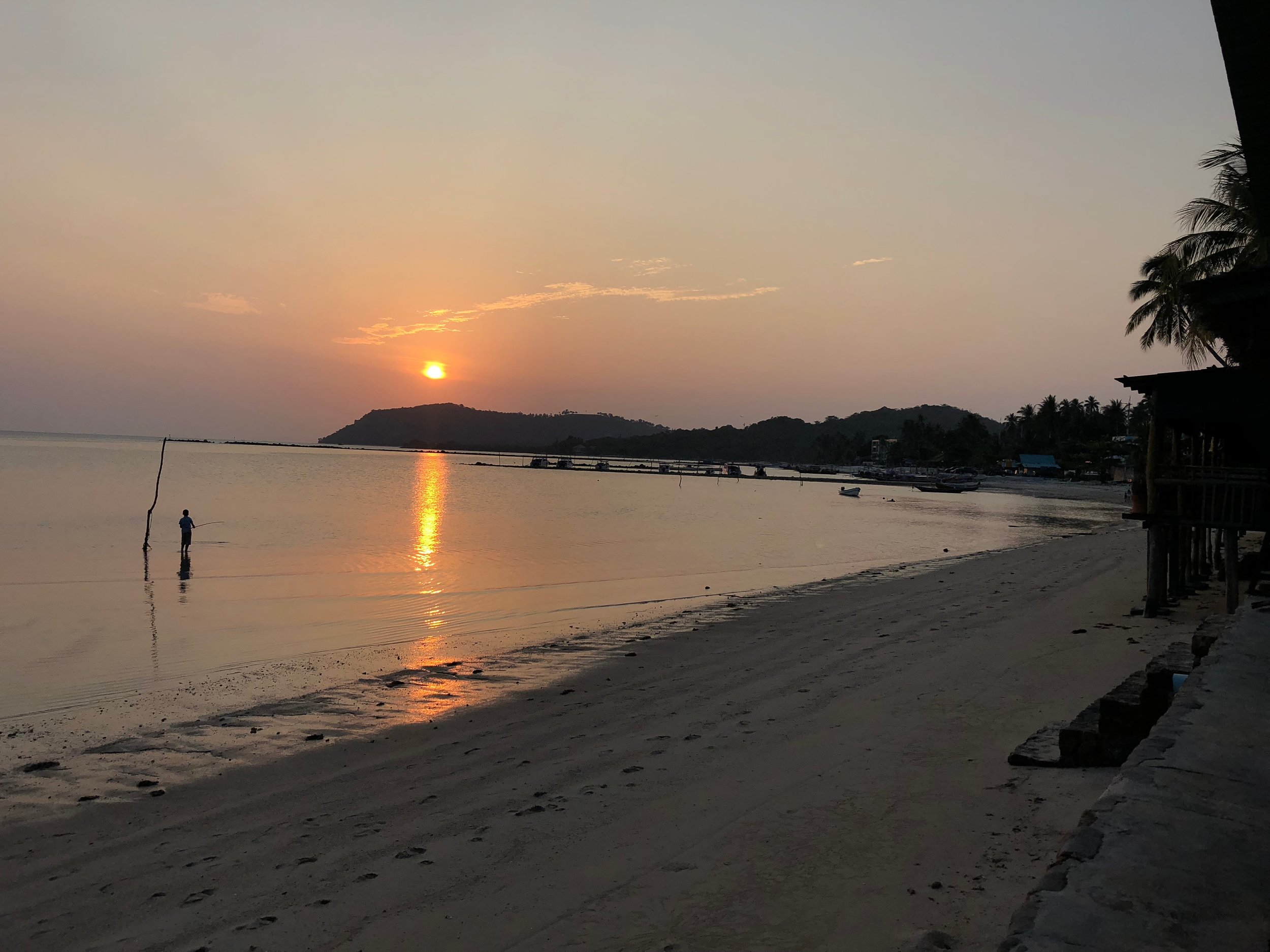 Our first sunset at Koh Samui