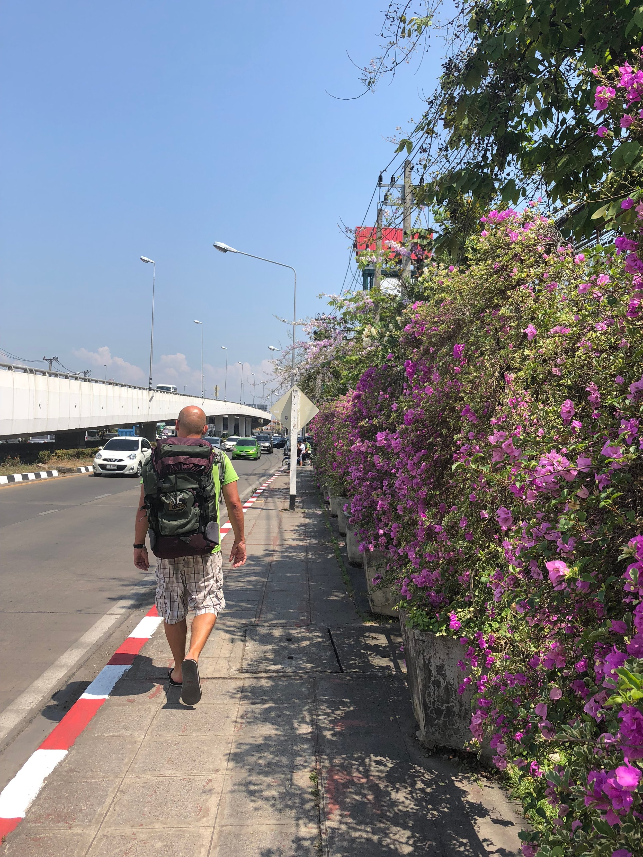 Walk from the airport