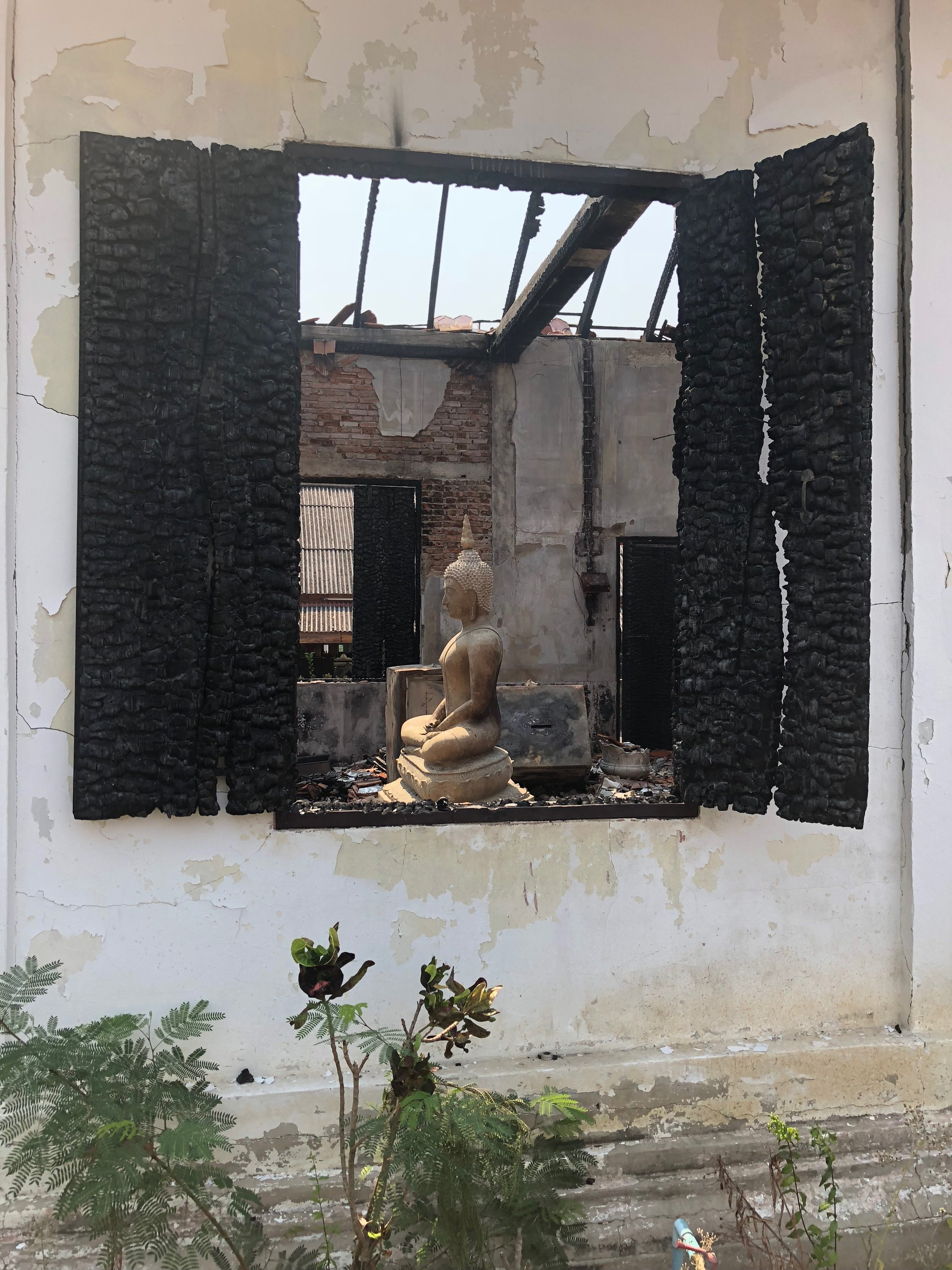 Sometimes looking through the destruction reveals the beauty